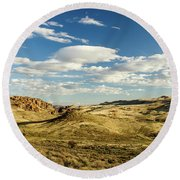 The Owyhee Desert Idaho Journey Landscape Photography By Kaylyn Franks  Round Beach Towel