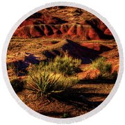 The Painted Desert From Kachina Point Round Beach Towel