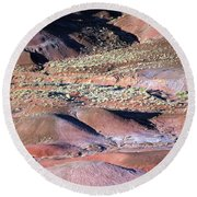 The Painted Desert Round Beach Towel by Tam Ryan