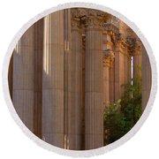 The Palace Columns Round Beach Towel