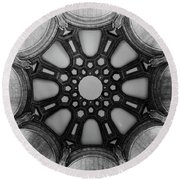 The Palace Of Fine Arts Dome Round Beach Towel