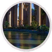The Palace Pond Round Beach Towel