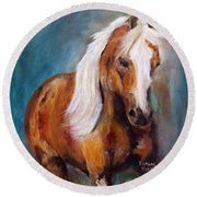 The Palomino Round Beach Towel by Barbie Batson