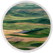 The Palouse Round Beach Towel