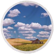 Round Beach Towel featuring the photograph The Palouse by Sharon Seaward