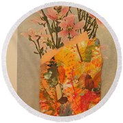 The Paper Vase Round Beach Towel