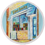 The Paperbacks Plus Book Store St Paul Minnesota Round Beach Towel