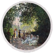 The Parc Monceau Round Beach Towel