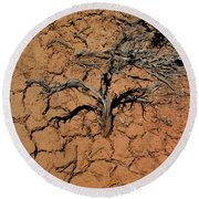 The Parched Earth Round Beach Towel