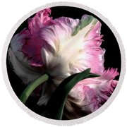 The Parrot Tulip Queen Of Spring Round Beach Towel
