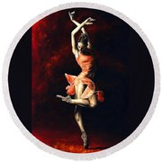 The Passion Of Dance Round Beach Towel