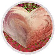 The Passionate Heart Round Beach Towel