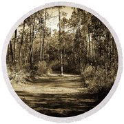 The Path Before Me, No. 6 Round Beach Towel