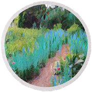 The Path Less Traveled Round Beach Towel