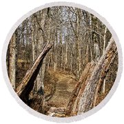 The Path Through The Woods Round Beach Towel