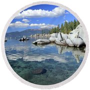 Round Beach Towel featuring the photograph The Path To Reflection by Sean Sarsfield