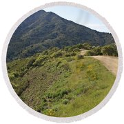 The Path To Tamalpais Round Beach Towel