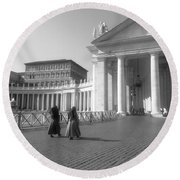 The Path To Temple Round Beach Towel