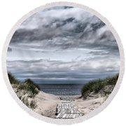 The Path To The Beach Round Beach Towel by Jouko Lehto