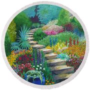 The Peaceful Path Round Beach Towel