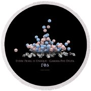 The Pearls Of Gamma Phi Delta Round Beach Towel