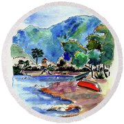 The Peloponnese Round Beach Towel