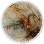 The Penitent Man - Fractal Art Round Beach Towel
