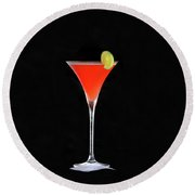 Round Beach Towel featuring the photograph The Perfect Drink by David Lee Thompson