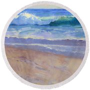 The Healing Pacific Round Beach Towel