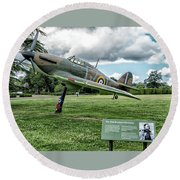Round Beach Towel featuring the photograph The Pete Brothers Hurricane by Alan Toepfer