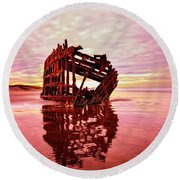 Peter Iredale Fantasy Round Beach Towel