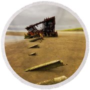 The Peter Iredale Round Beach Towel