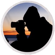 The Photographer Round Beach Towel