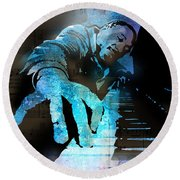 The Piano Man Round Beach Towel