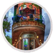 The Pickle Barrel Chattanooga Tn Round Beach Towel by Reid Callaway