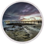 The Pier @ Lorne Round Beach Towel by Mark Lucey