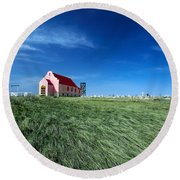 The Pink Church Round Beach Towel by Todd Klassy