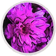 The Pink Flower With The Lavender Edges Round Beach Towel