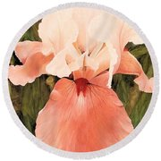 The Pink Lady  Round Beach Towel