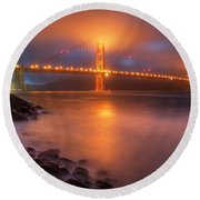 Round Beach Towel featuring the photograph The Place Where Romance Starts by William Lee