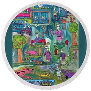The Playground Round Beach Towel