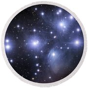 The Pleiades Round Beach Towel