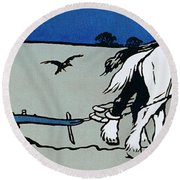 The Ploughman Round Beach Towel