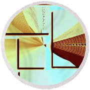 Round Beach Towel featuring the photograph The Point by Susan Leggett