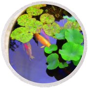 Round Beach Towel featuring the photograph The Pond by Jodie Marie Anne Richardson Traugott          aka jm-ART
