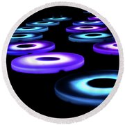 Round Beach Towel featuring the photograph The Pool Circles by Mark Dodd
