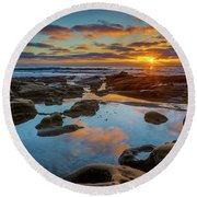 The Pool Round Beach Towel by Peter Tellone