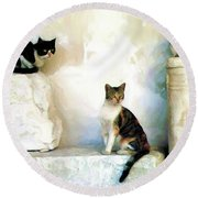 The Pose - Rdw250812 Round Beach Towel