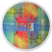 Round Beach Towel featuring the digital art The Power Of Colour by Tara Turner