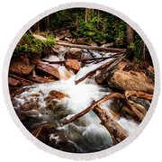 The Power Of Nature - Little Cottonwood Creek Round Beach Towel